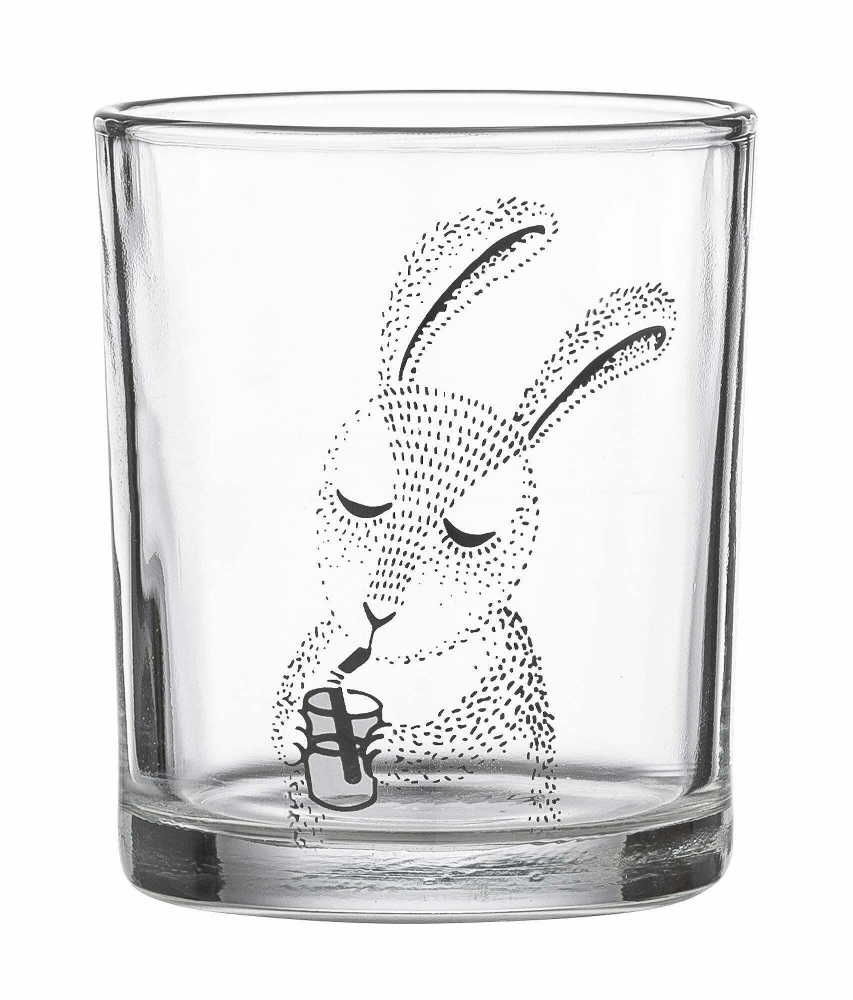 Szklanka Śpiący królik marki Bloomingville, duński dizajn