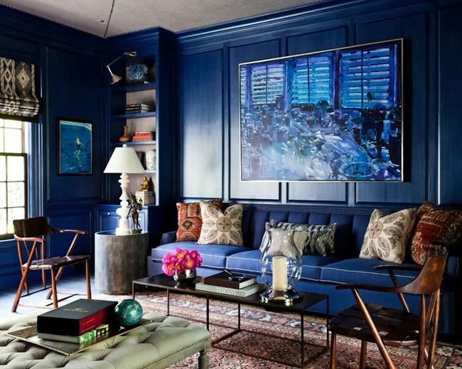 Wnętrze Navy Blue z www.theenglishroom.biz