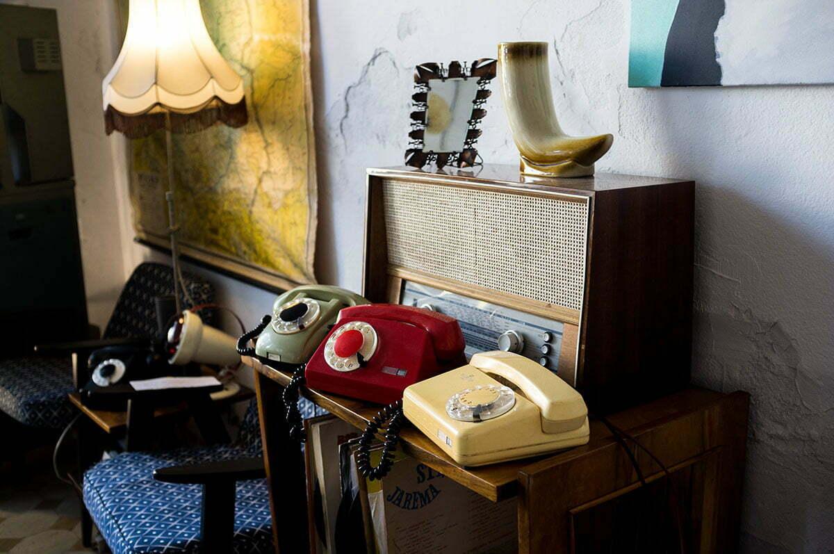 telefony PRL, aster, tulipan, bratek, telefony retro