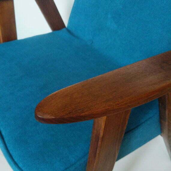 Fotel Chierowski 366 niebieski detal