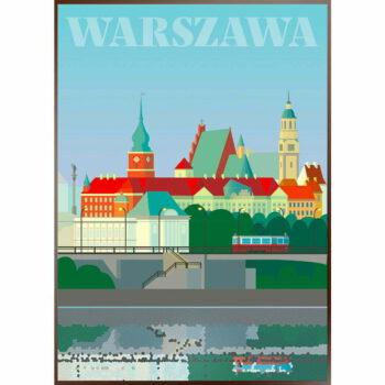 Plakat Warszawa - Stare Miasto