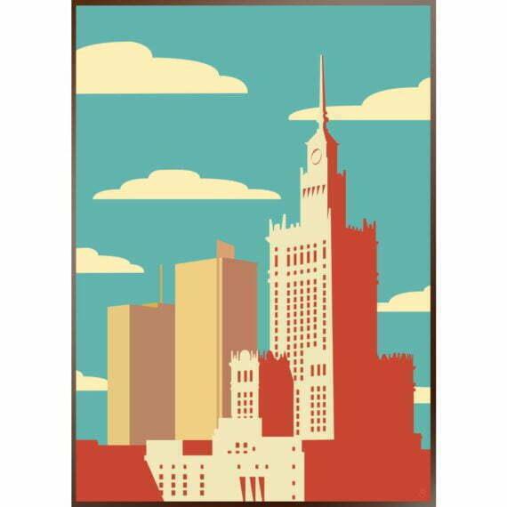 plakat Pałac Kultury i Nauki w Warszawie