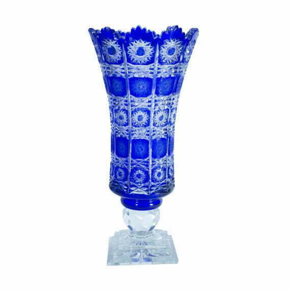 Wazon kryształowy Niebieski
