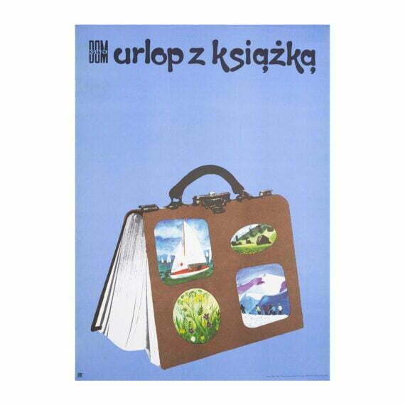 plakat Urlop z książką