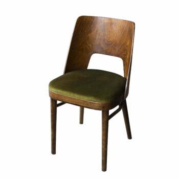 Krzesło muszelka zielone
