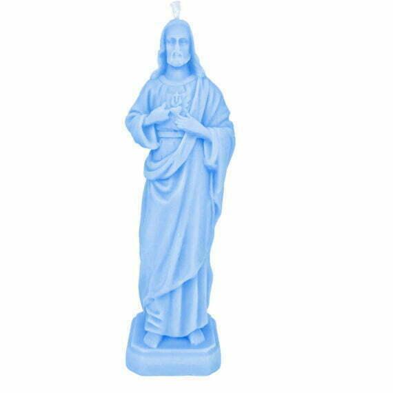 świeczka Jezus La Flamme niebieski Duża