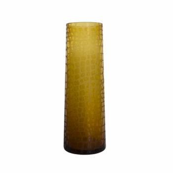 wazon szklany żółty