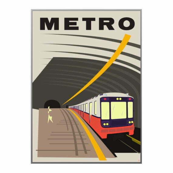 Plakat Metro Warszawa