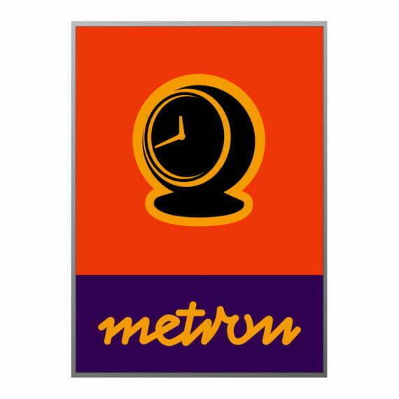 Plakat Metron zegar kulka