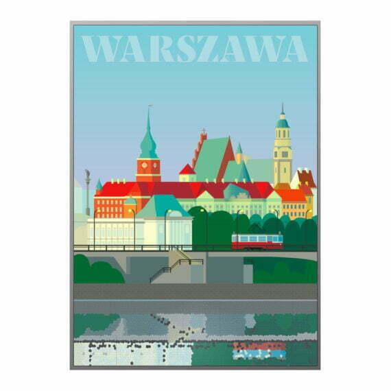 Plakat Warszawa od strony Pragi