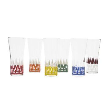 Komplet szklanek kolorowych