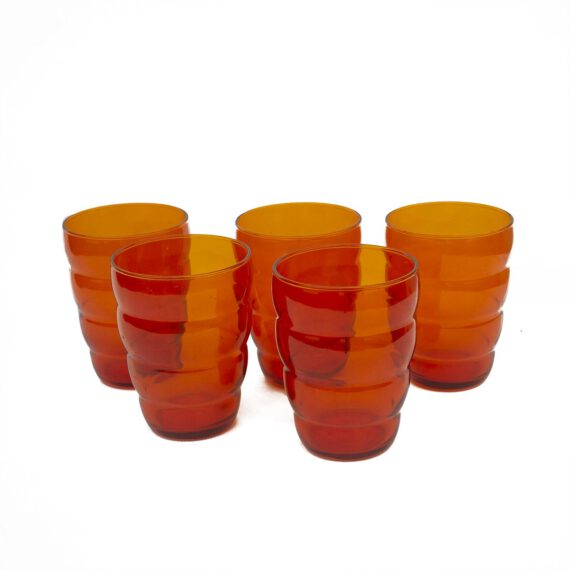 pomarańczowe szklanki vintage