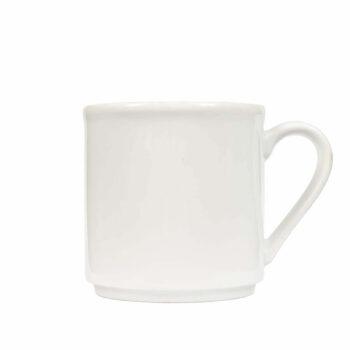 Prosty biały kubek do kawy