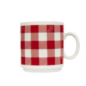 Kubek do kawy w kratę