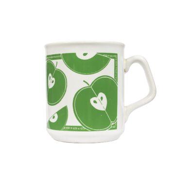 Kubek do kawy z jabłuszkami