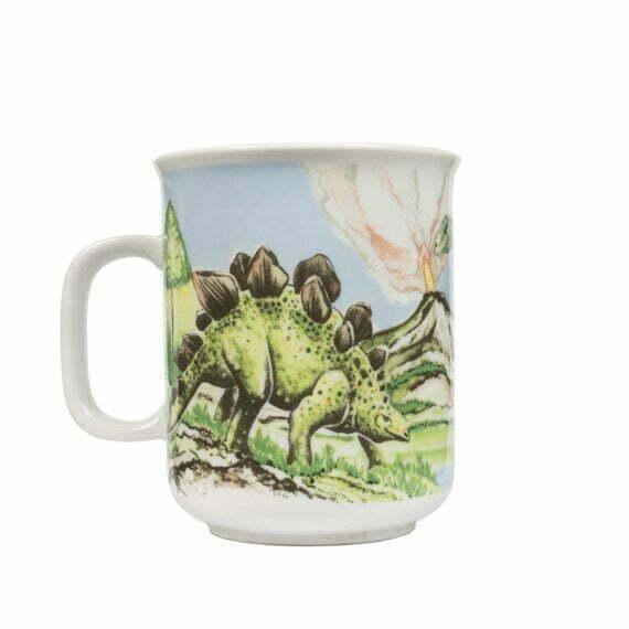 Kubek z triceratopsem, kubek vintage z dinozaurem