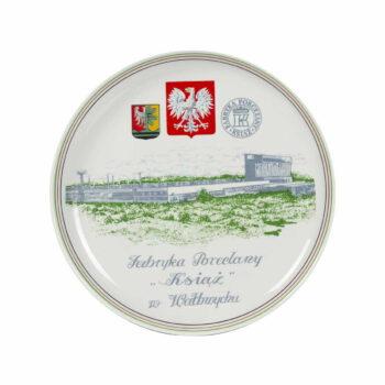 Fabryka porcelany Książ w Wałbrzychu, talerz pamiątkowy na ścianę