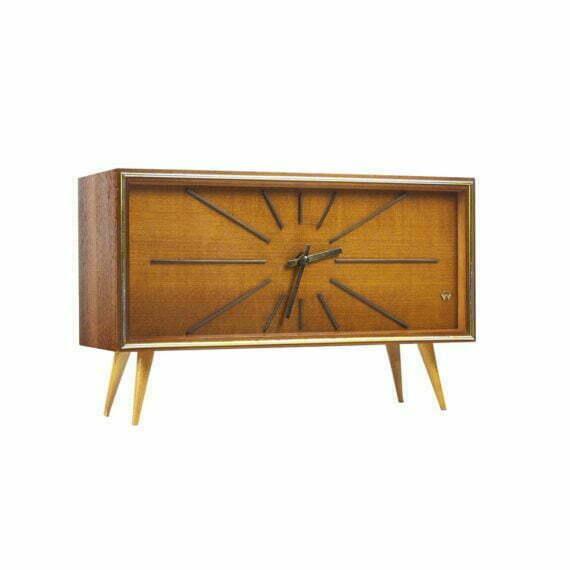 Zegar kominkowy Midcentury Weimar