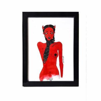 """Grafika """"Devil in me"""", Monika Kozak"""