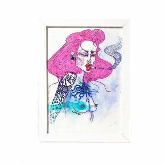 "Grafika ""Inked dreams"", Monika Kozak"