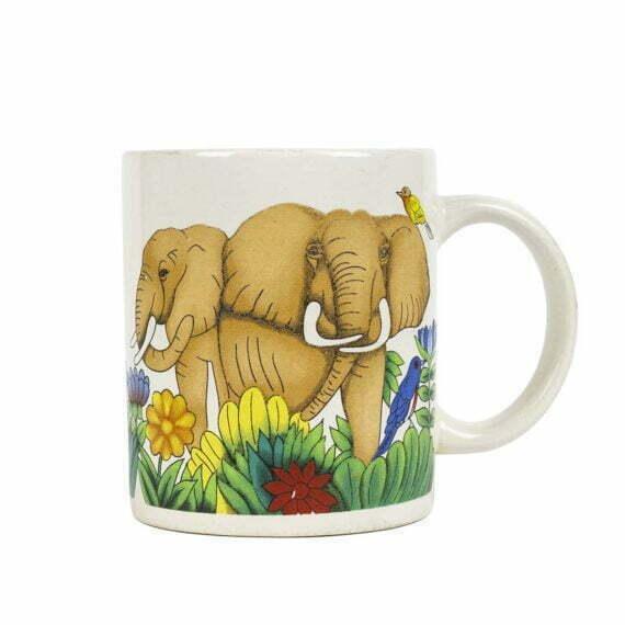 Kubek ze słoniami