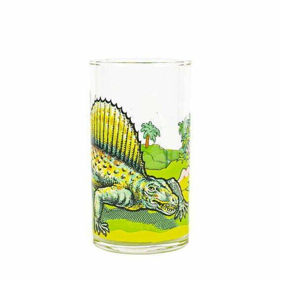 Szklanka z dinozaurem