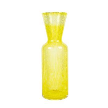 Żółty szklany wazon