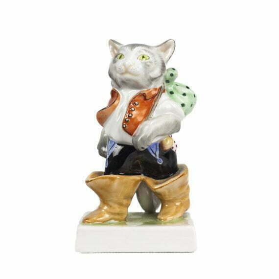 Kot w Butach figurka porcelanowa