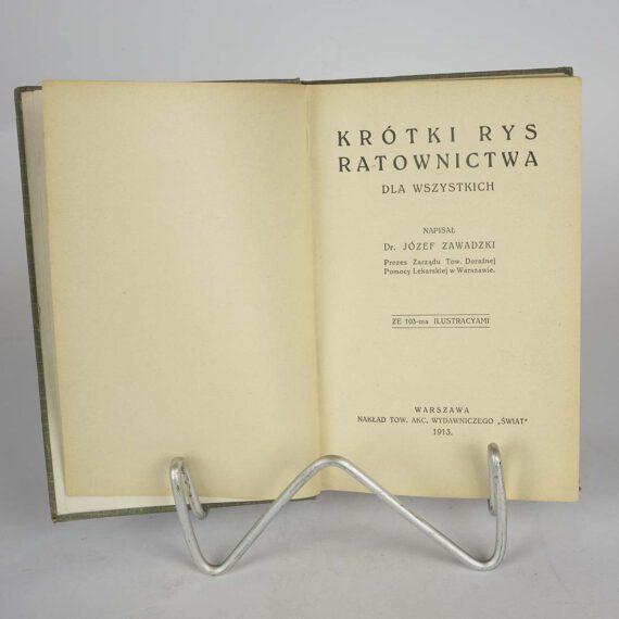 Krótki Rys Ratownictwa J. Zawadzki 1913
