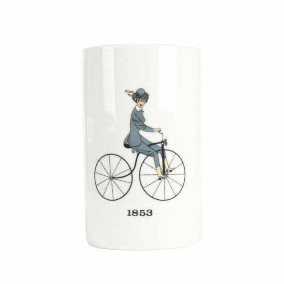 Kubek z kobietą na rowerze Thomas 1853
