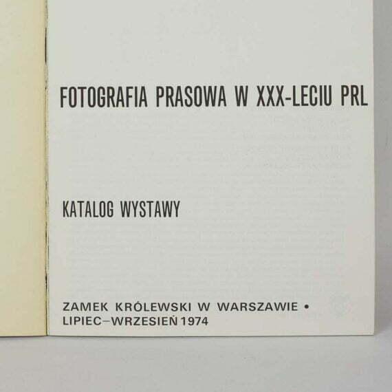Fotografia prasowa w XXX-leciu PRL